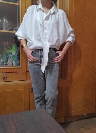Белая рубашка  оверсайз свободного  ровного кроя other stories