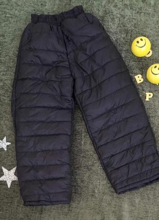 Тёплые штаны-дутики на ребёнка 3-7 лет