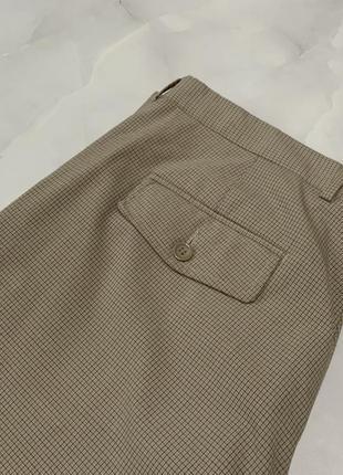 Стильные мужские брюки в клетку zara