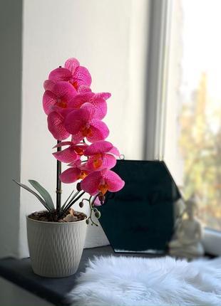 Шикарная белая марсала снежная орхидея искусственная композиция