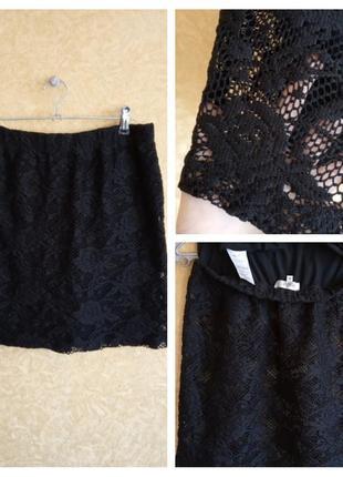 Трендовая гипюровая юбка мини