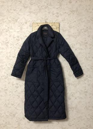 Трендовое стеганое пальто ромбы , новое!