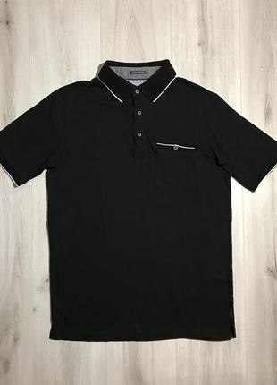 Поло/футболка pierre cardin mercerized cotton black polo