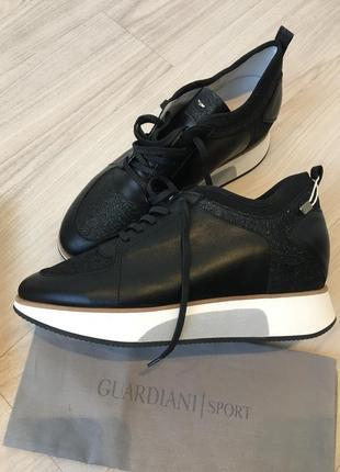 Кроссовки из кожи alberto guardiani