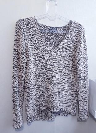 Мягкий удлиненный свитер джемпер лонгслив