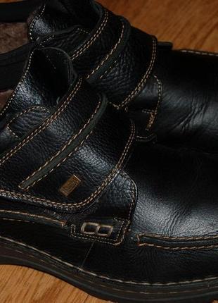 Кожаные ботинки на мембране на цигейке 43,5 р rieker tex отличное состояние