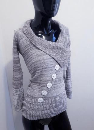 Джемпер свитер с отложным воротником