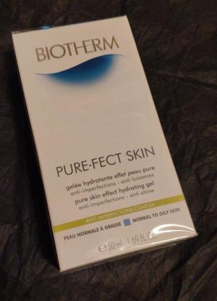 Очищающий гель с матирующим эффектом biotherm pure.fect skin 50мл