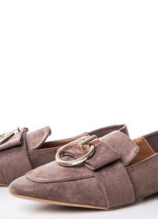 Мягкие красивые тапки туфли балетки можно как шлепки сабо под замш