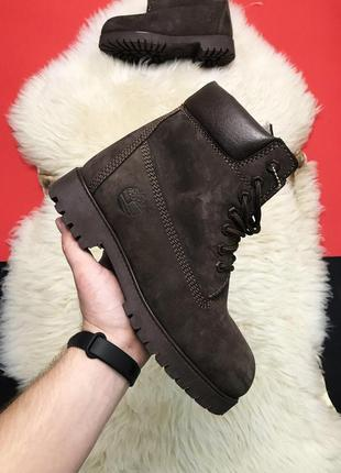Мужские ботинки timberland brown fure premium