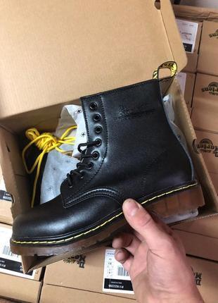 Шикарные мужские ботинки dr. martens 1460 black чёрные 😃(осень евро-зима)