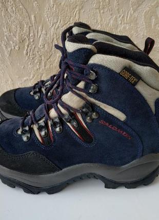 Трекинговые ботинки salomon gore-tex оригинал очень прочные и цепкие, размер 39.5