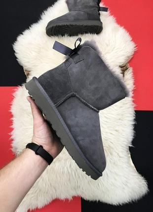 Женские ugg bailey bow mini gray