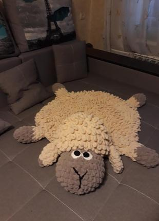Плюшевый коврик барашек свен
