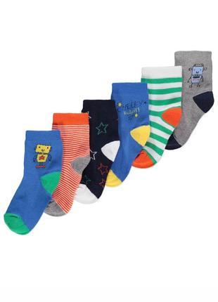 Носки george не утепленные комплект носков