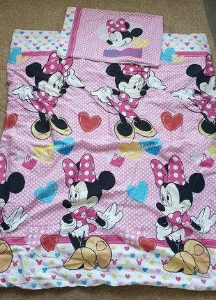 Комплект постельного белья george размер дошкольный toddler c minnie mouse