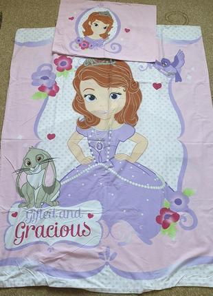 Комплект постельного белья george размер  toddler с принцессой софией