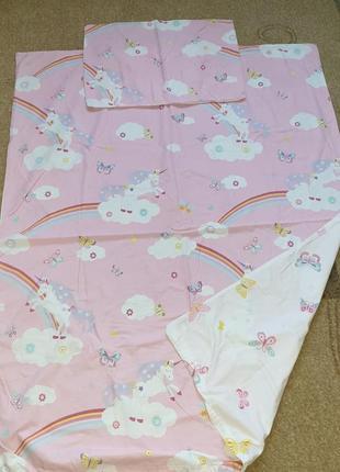 Комплект постельного белья george размер  toddler с единорогом