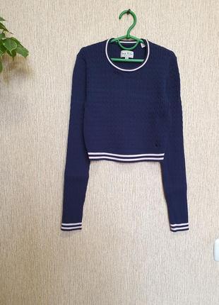 Укороченный свитер, джемпер, кроп-топ, топ в рубчик от jack wills