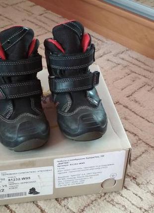 Зимние кожаные ботинки bartek 22р