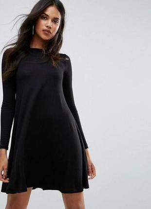 Базовое черное платье трапеция\колокольчик