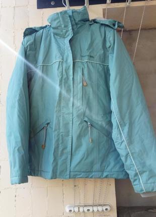 Куртка парка термо мембрана спорт голубо-дымчатая морск волна от trespass
