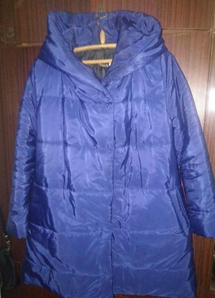 Зимнее пальто трамеция 46р.