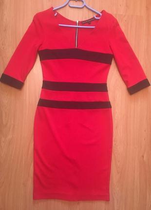 Продам яркое красное платье миди