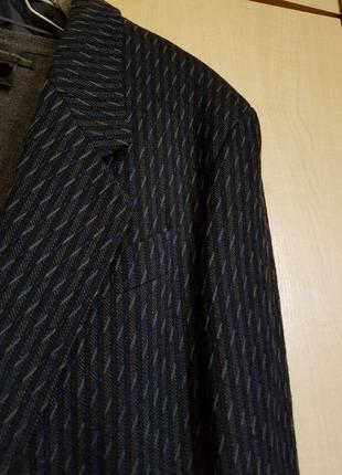 Пиджак синий из красивой фактурной ткани (финский)