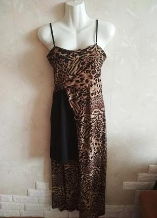 Леопардовое вечернее платье двойное