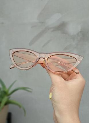 Карамельные солнечные очки лисички, солнцезащитные очки от солнца, сонячні окуляри