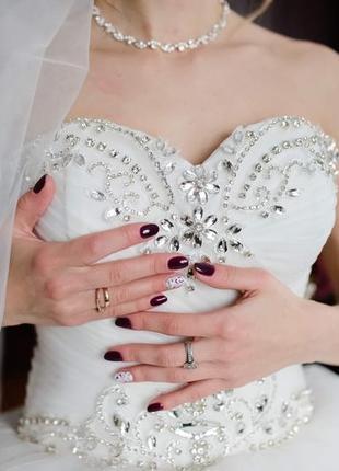 Весільне пишне плаття
