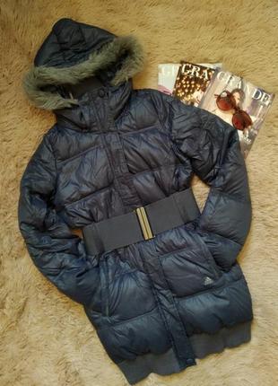 Натуральный зимний пуховик/пальто/курточка/куртка
