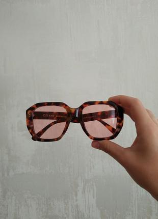 Очки маска, солнцезащитные имиджевые розовые очки, окуляри сонцезахисні іміджеві