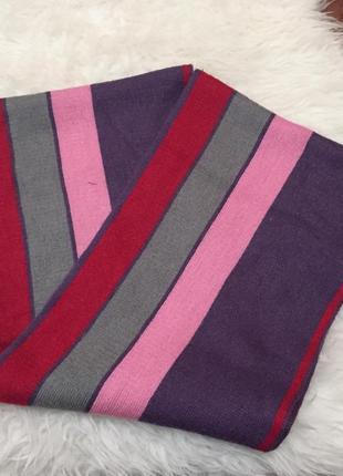 Полосатый яркий шарф-хомут