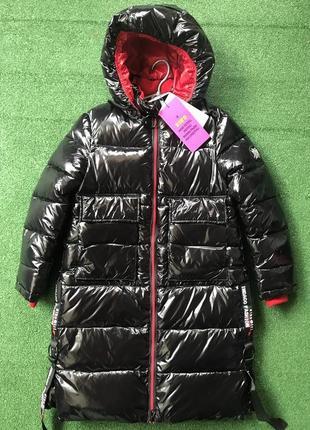 Пальто для девочки kiko в лаке! 5359(м и б) китай.зима 2020