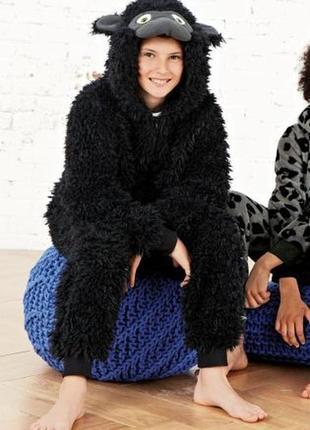 🦍🦍🦍мохнатый теплый слип пижама кигуруми горилла next на 13 лет