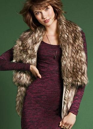 Victoria's secret fur vest оригинальный жилет