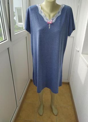 Ніжна ночнушка в горошок,ночная сорочка