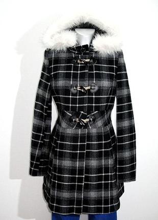 Женское пальто в клетку jane norman