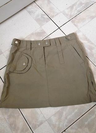 Юбка карго милитари цвет хаки олива размер хс
