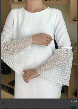 Шикарное платье zara размер 30(l)