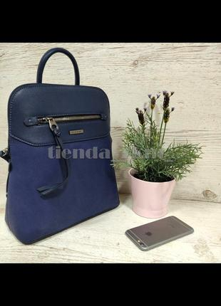 Стильный городской рюкзак на одно отделение david jones 6110-3t синий