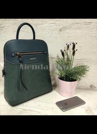 Стильный городской рюкзак на одно отделение david jones 6110-3t зеленый