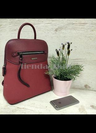 Стильный городской рюкзак на одно отделение david jones 6110-3t красный