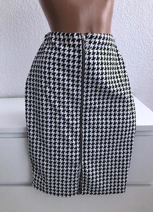 Стильная юбка карандаш на молнии с колечком atmosphere