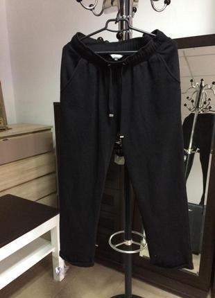 Чорні утеплені спортивні штани peacocks