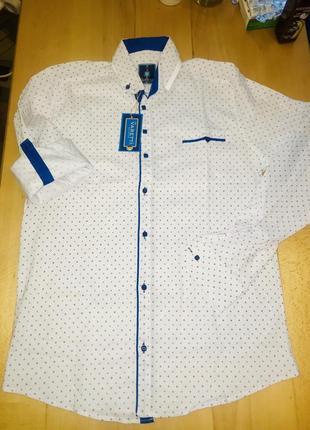 Стильная новая мужская рубашка с длинным рукавом