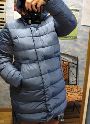 Пуховик женский -snowimage- на 48 размер цвета морской волны