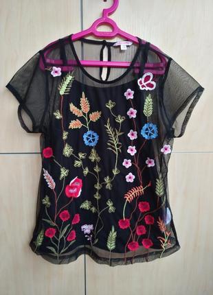 Блузка с вышивкой misse vie на 12 лет